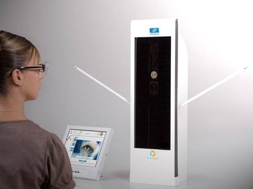 Die dynamische, dreidimensionale Eyecode Messung erfolgt mit